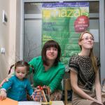 Viens no semināra rīkotājiem - žurnāls Mans Mazais, aicināja mammas dalīties ar ieteikumiem žurnāla veidošanā