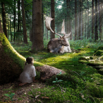 baby-girl-lost-in-wild-forest-observing-animals-wide